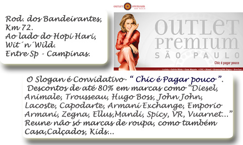 OUTLETS -GLAM4YOU - SÃO PAULO- OUTLET PREMIUM - menor