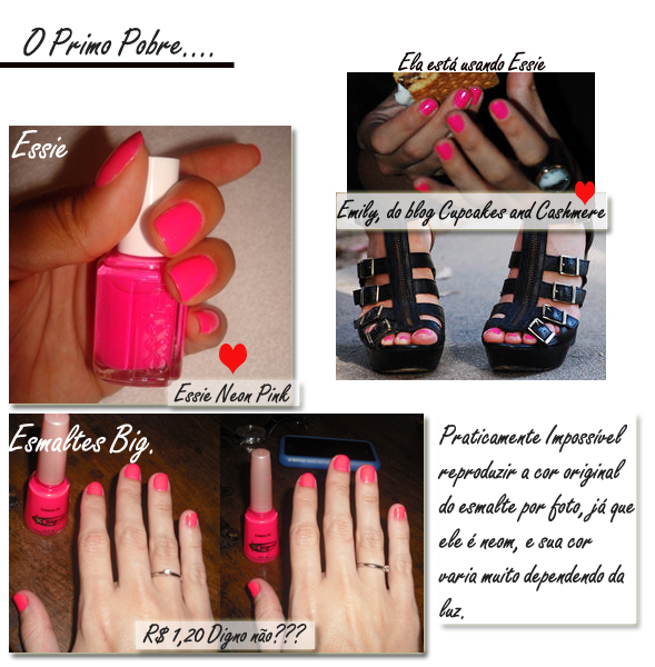 Unhas Neon ESSIE BIG GLAM4YOU